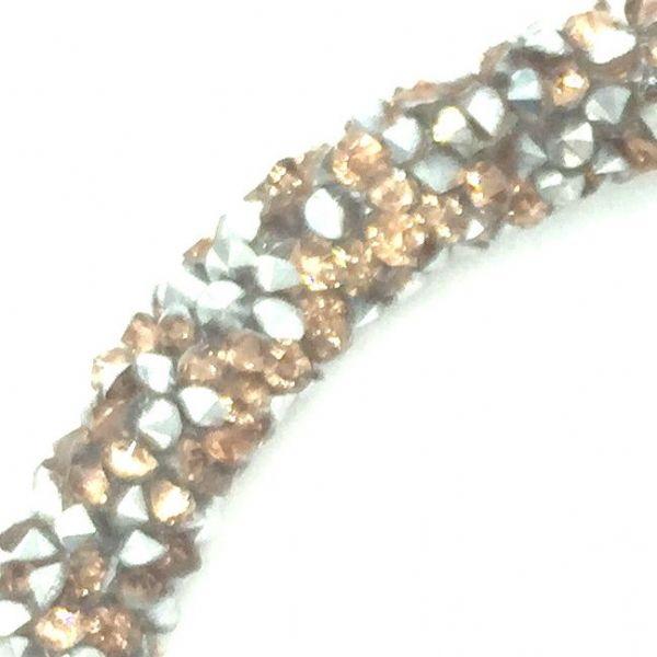 7mm sparkle dust crystal tubing 1 metre -rose gold - silver